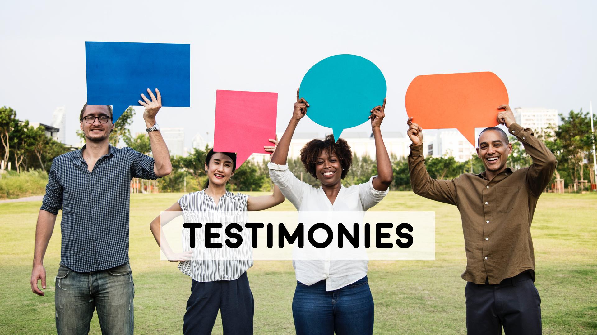 Testimony Time - 9/2/18