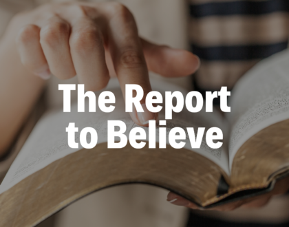 The Report to Believe - 3/21/19