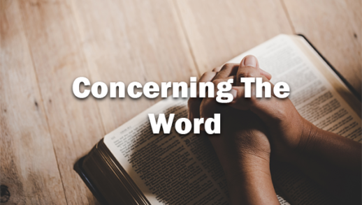 Concerning The Word 2-2-2020
