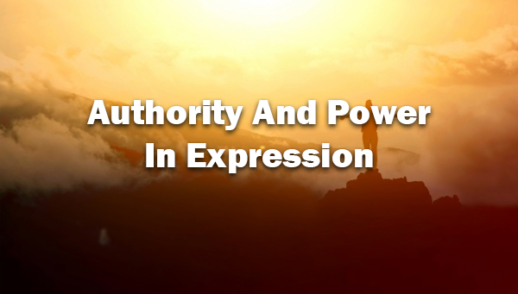 Authority And Power In Expression 3/1/20